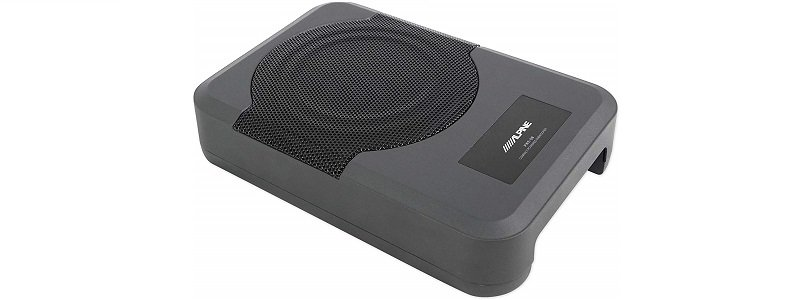 Alpine PWE-S8 Slim Under-Seat 8″ 120w Powered Car Truck Subwoofer